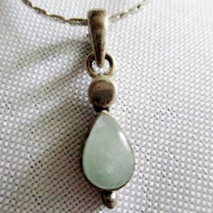 Jewelry - STERLING SILVER OPALITE STONE Pendant NECKLACE